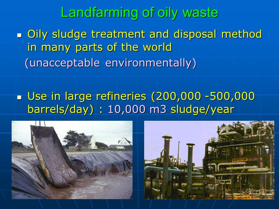 Landfarming of oily waste