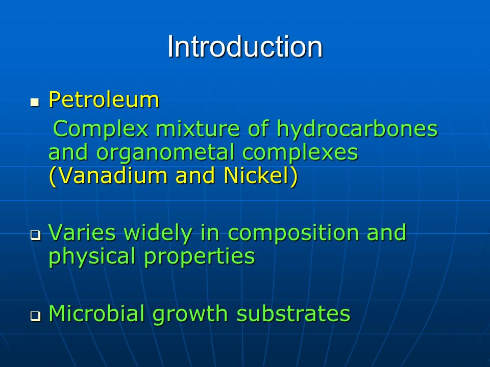 Introduction Petroleum
