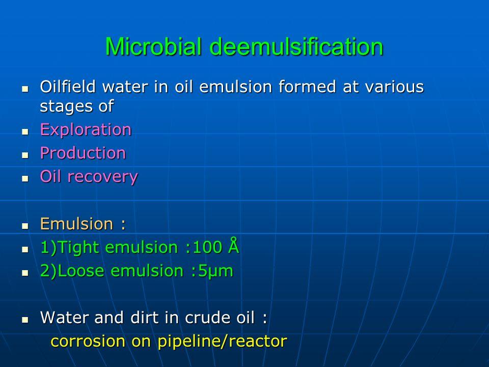 Microbial deemulsification
