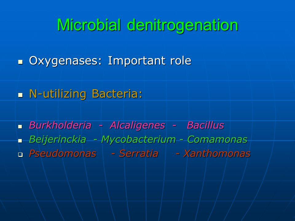 Microbial denitrogenation