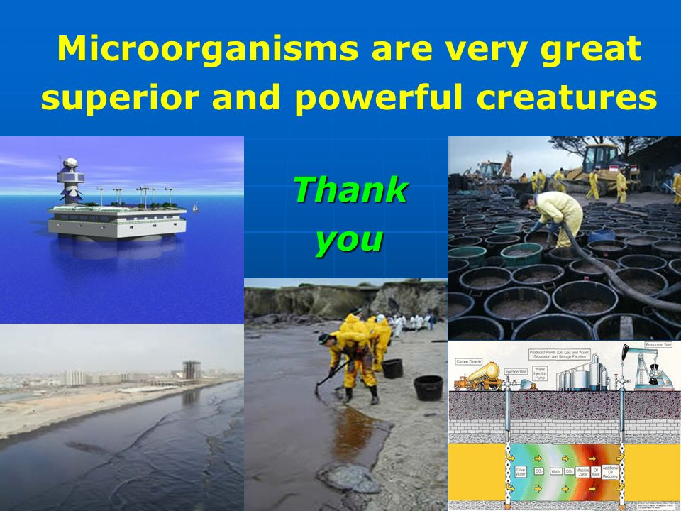 Microorganisms are very great superior and powerful creatures
