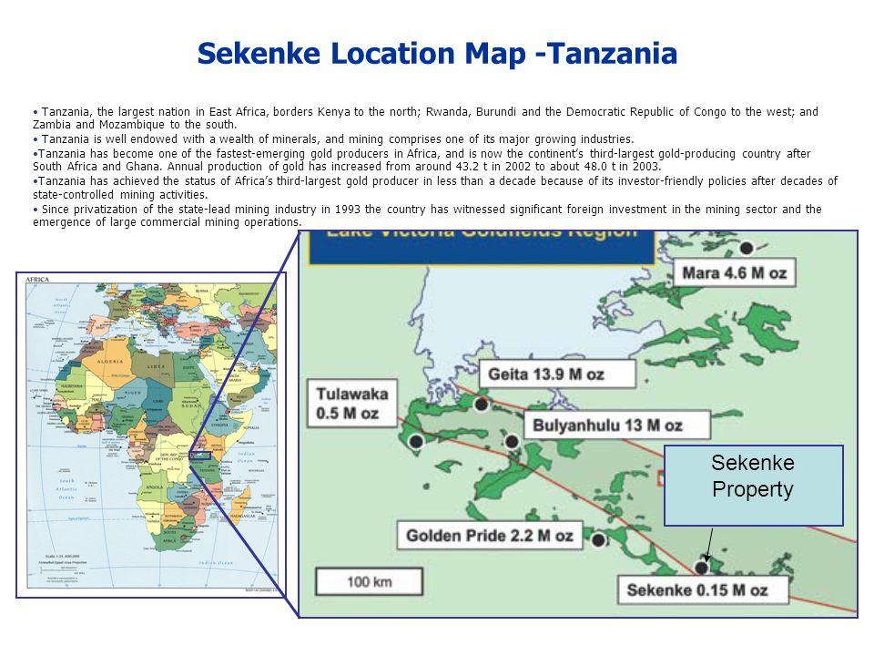 Sekenke Location Map -Tanzania