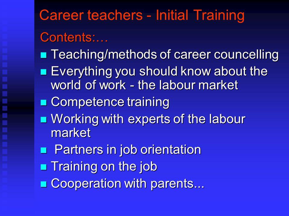 Career teachers - Initial Training
