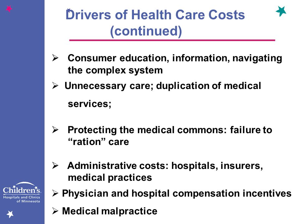 Drivers of Health Care Costs (continued)