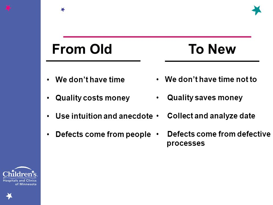 From Old To New We don't have time We don't have time not to