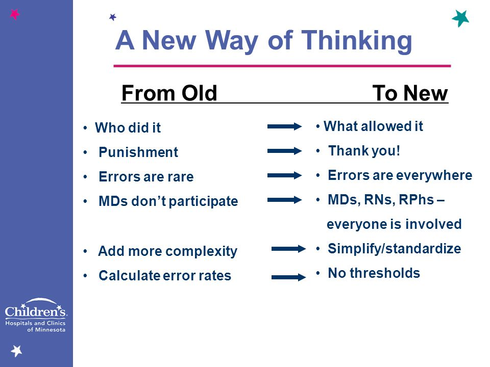 A New Way of Thinking From Old To New Who did it What allowed it