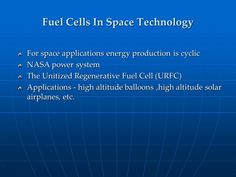 Fuel Cells In Space Technology