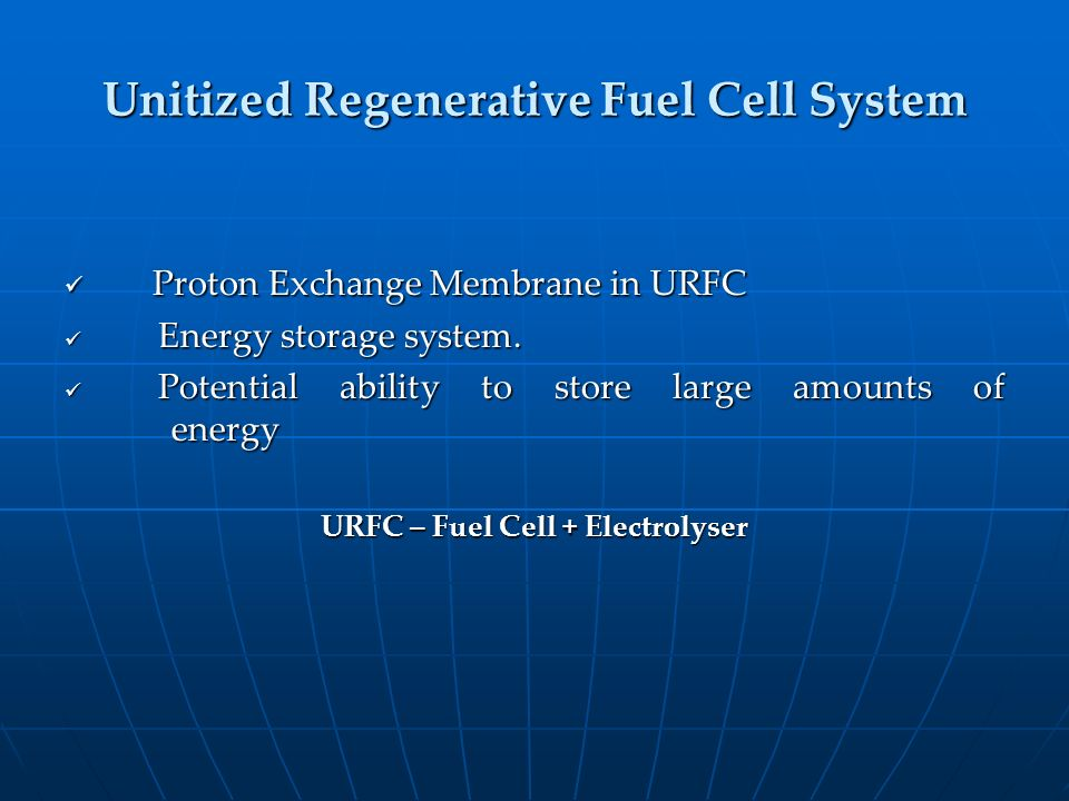 Unitized Regenerative Fuel Cell System
