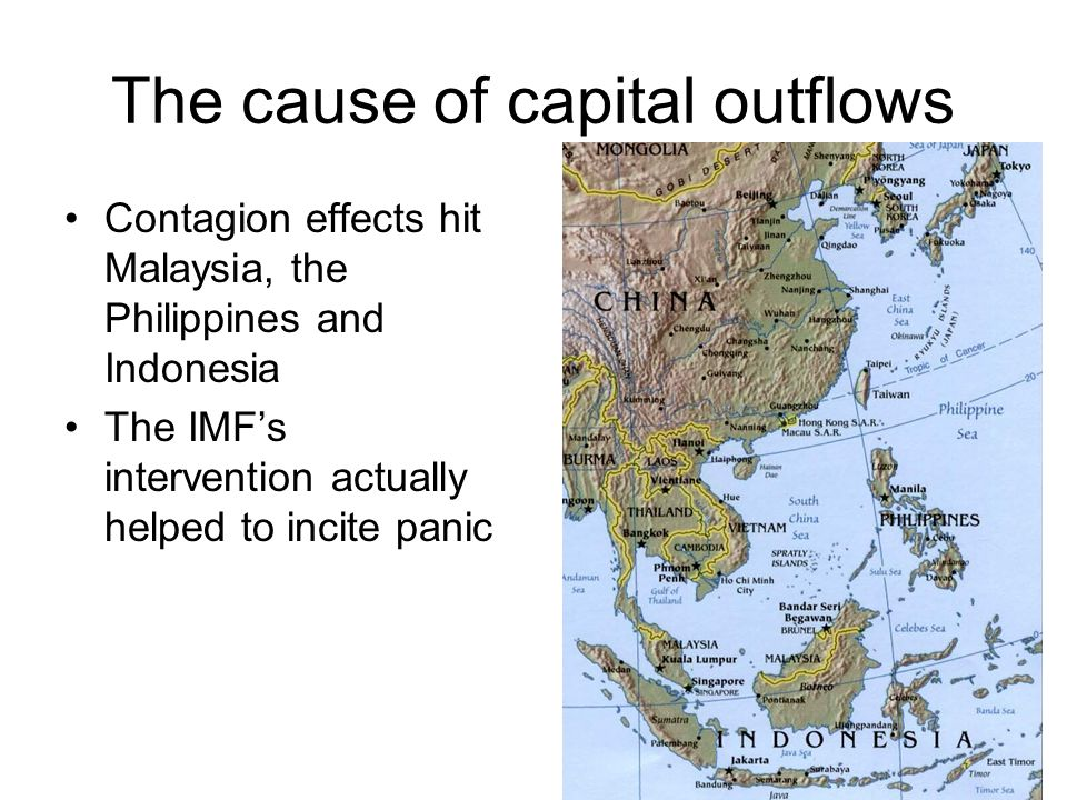 The cause of capital outflows