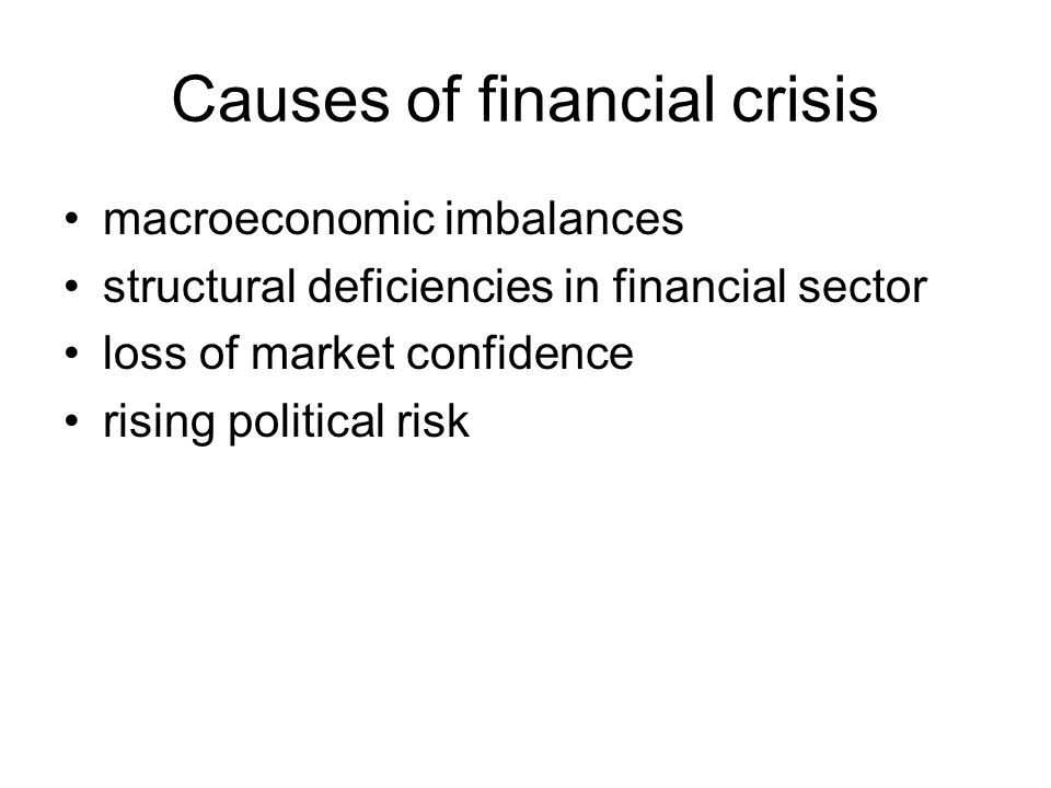 Causes of financial crisis