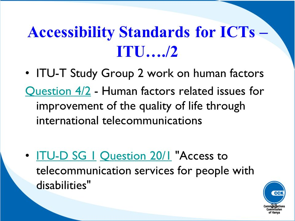 Accessibility Standards for ICTs – ITU…./2