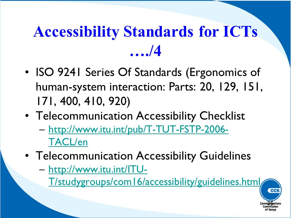 Accessibility Standards for ICTs …./4
