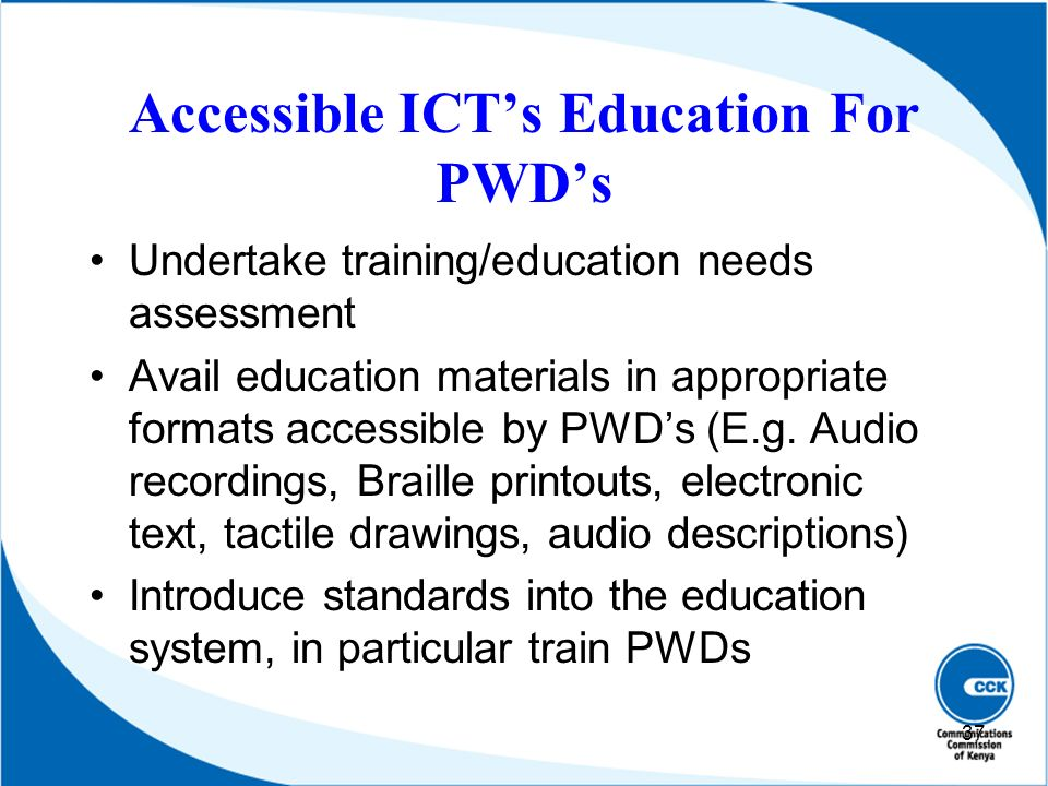 Accessible ICT's Education For PWD's