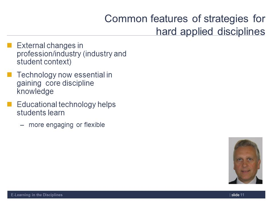 Common features of strategies for hard applied disciplines