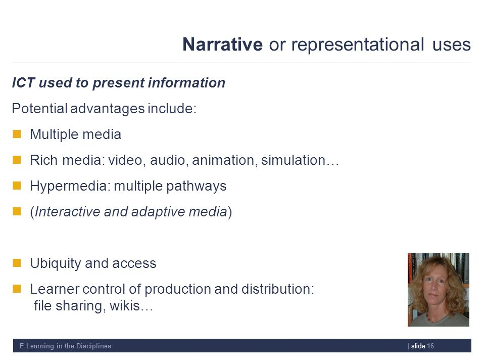Narrative or representational uses
