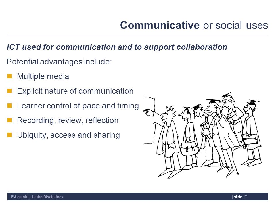 Communicative or social uses