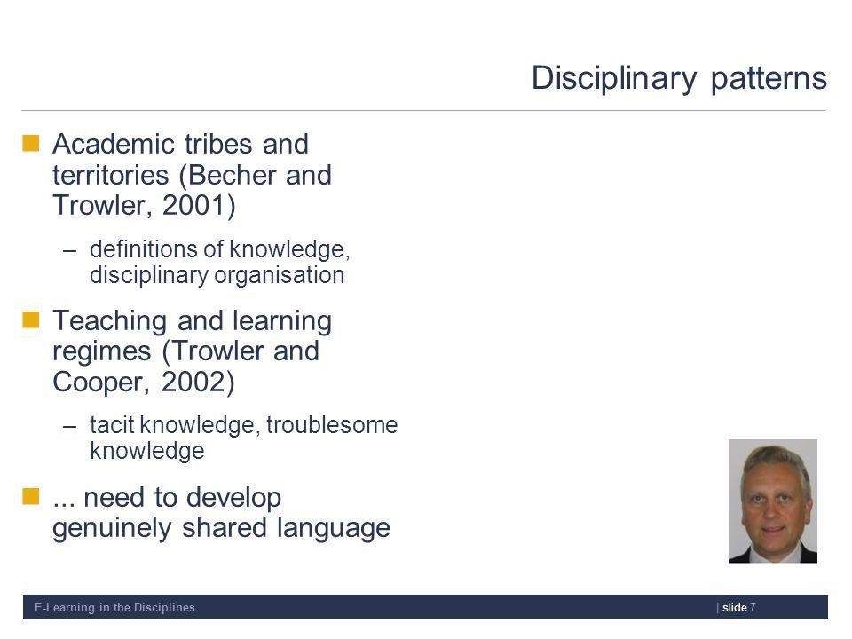 Disciplinary patterns