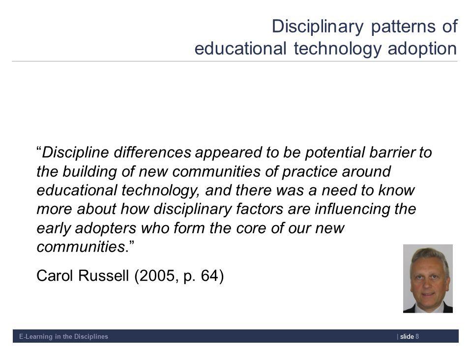 Disciplinary patterns of educational technology adoption