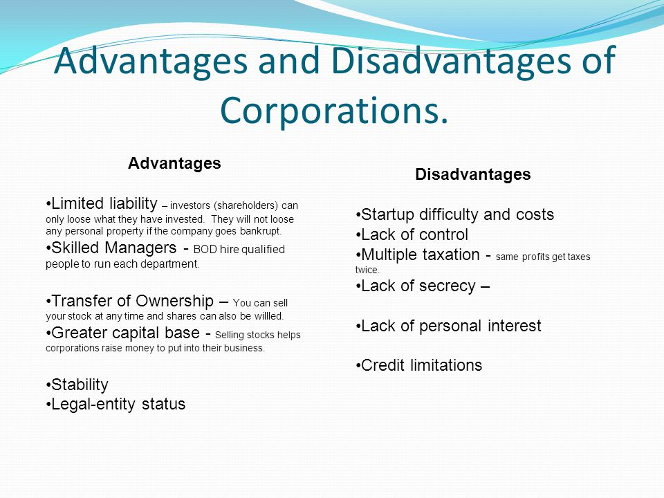 The Disadvantages of Limited Liability Company