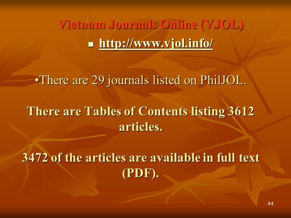 Vietnam Journals Online (VJOL)