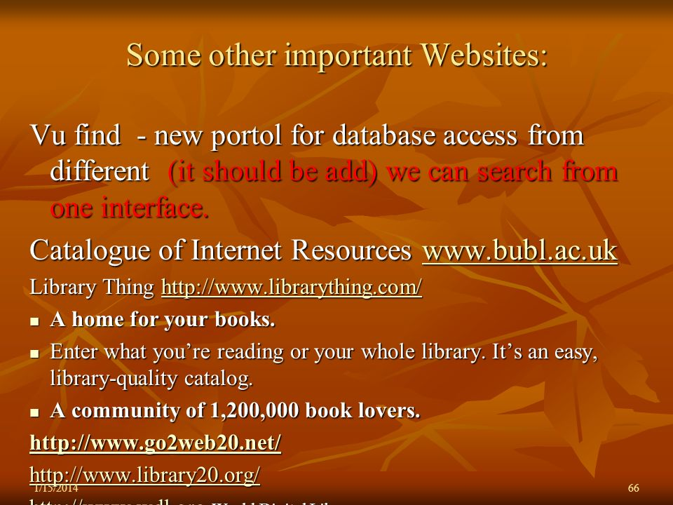 Some other important Websites: