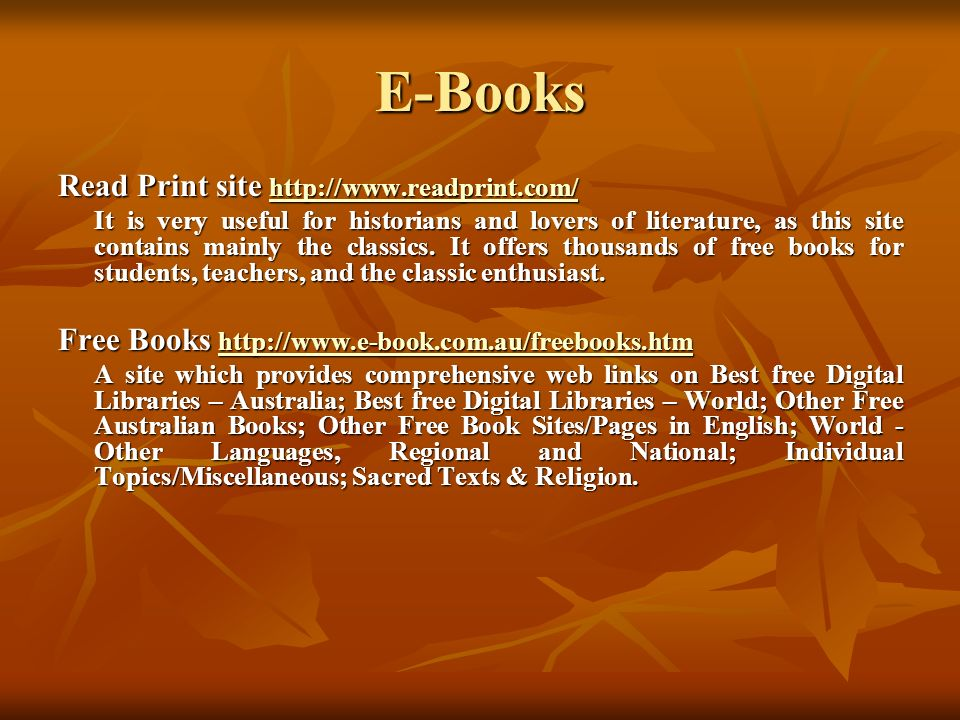 E-Books Read Print site http://www.readprint.com/