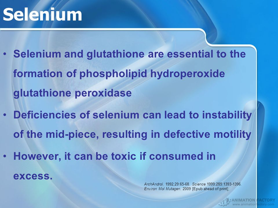 Selenium Selenium and glutathione are essential to the formation of phospholipid hydroperoxide glutathione peroxidase.