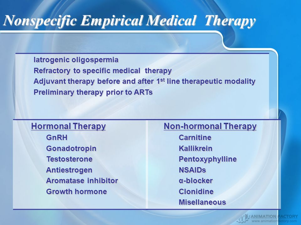 Nonspecific Empirical Medical Therapy