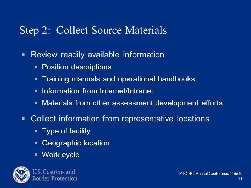 Step 2: Collect Source Materials