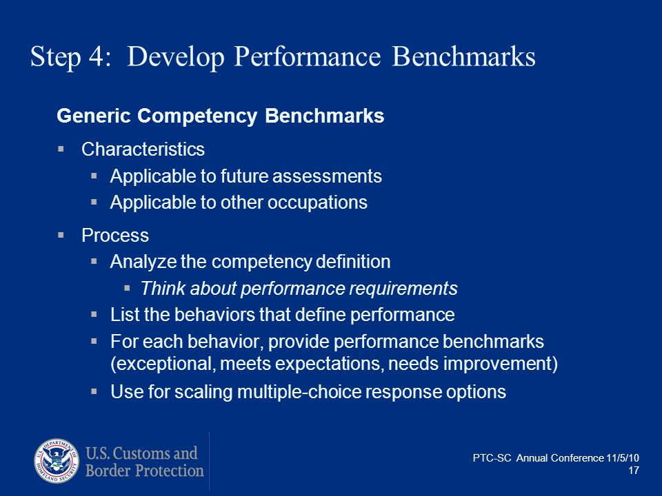 Step 4: Develop Performance Benchmarks