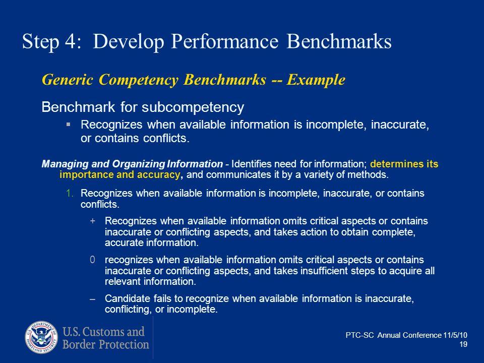 Step 4: Develop Performance Benchmarks