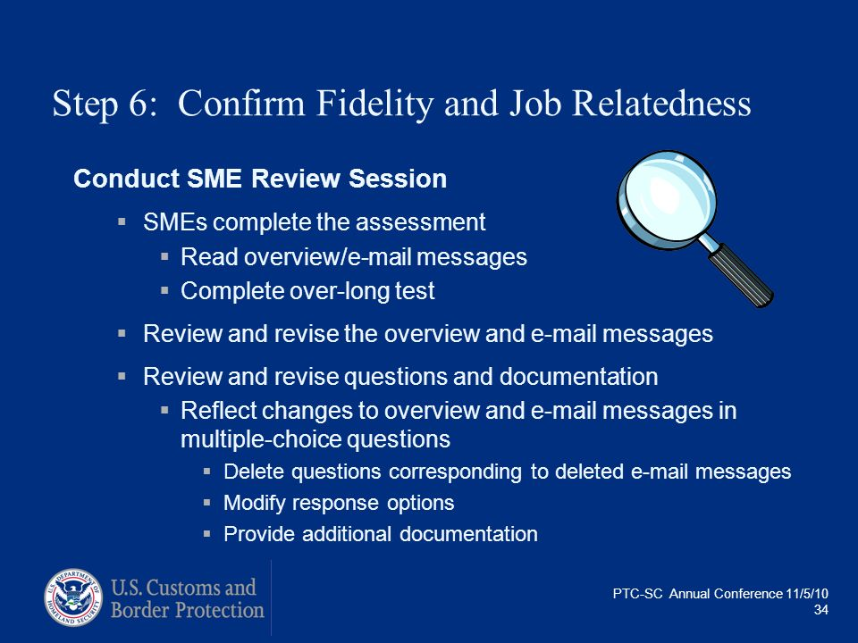 Step 6: Confirm Fidelity and Job Relatedness