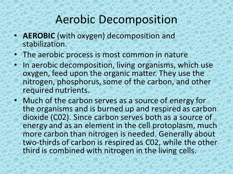 Aerobic Decomposition