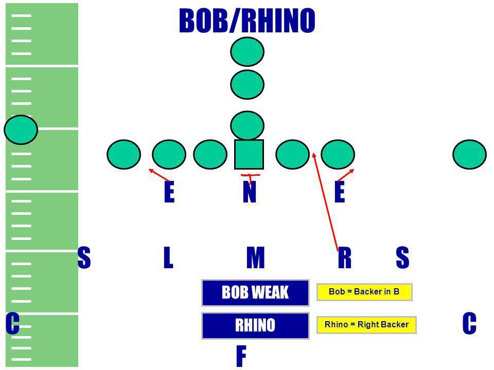 BOB/RHINO E N E S L M R S C C F BOB WEAK RHINO Bob = Backer in B