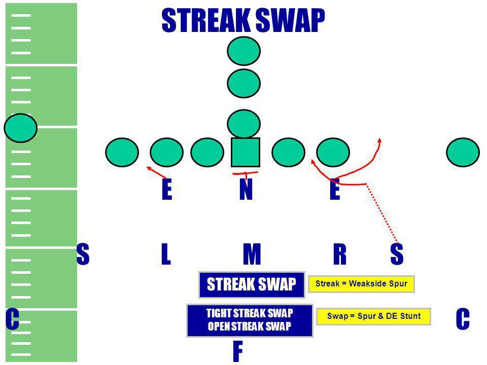 STREAK SWAP E N E S L M R S C C F STREAK SWAP TIGHT STREAK SWAP