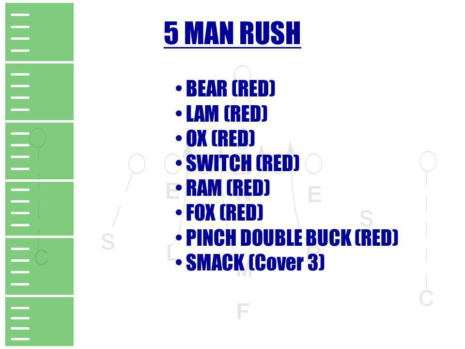 5 MAN RUSH BEAR (RED) LAM (RED) OX (RED) SWITCH (RED) RAM (RED)