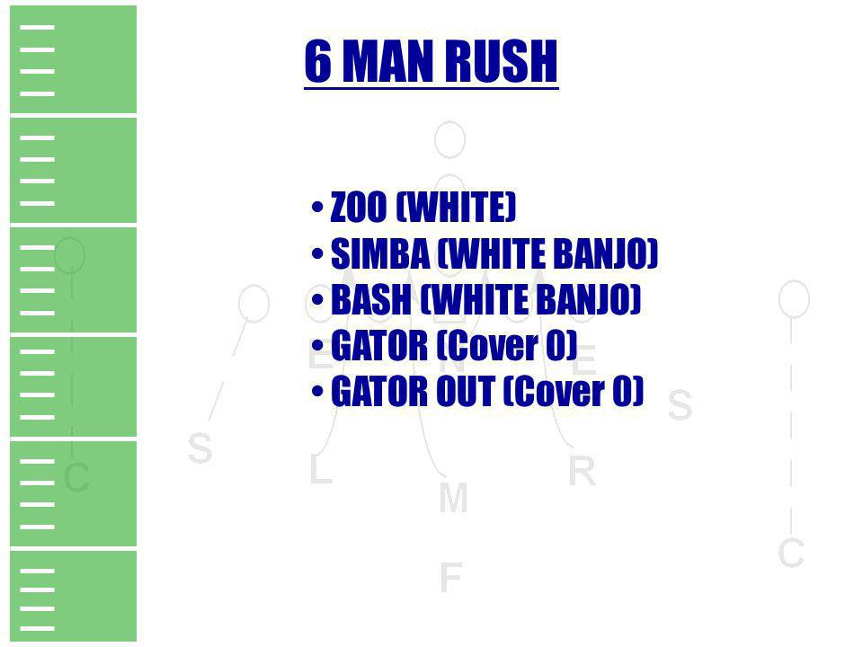 6 MAN RUSH ZOO (WHITE) SIMBA (WHITE BANJO) BASH (WHITE BANJO)