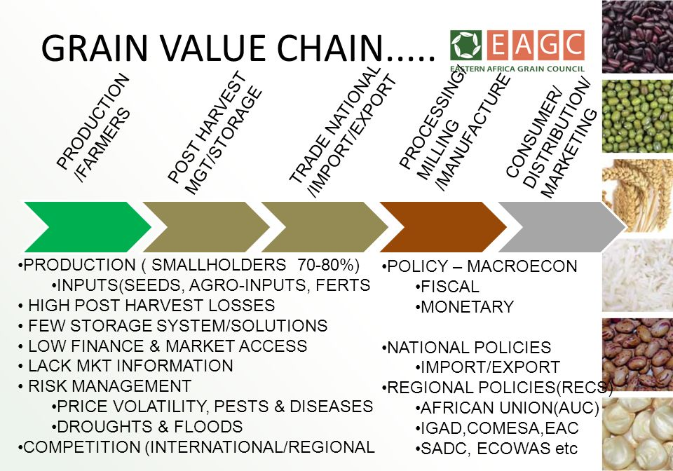 GRAIN VALUE CHAIN..... PROCESSING/ /MANUFACTURE TRADE NATIONAL