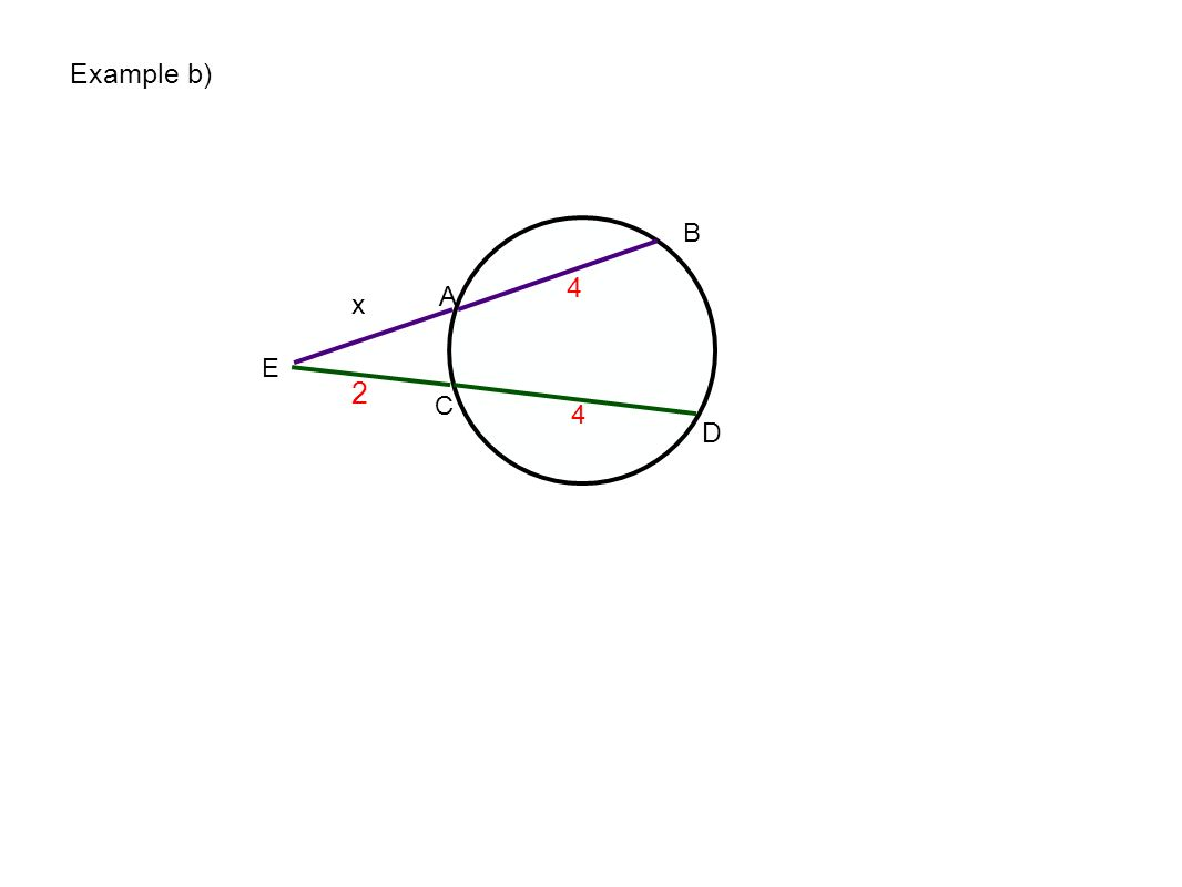 Example b) E A B C D 4 x 2 4