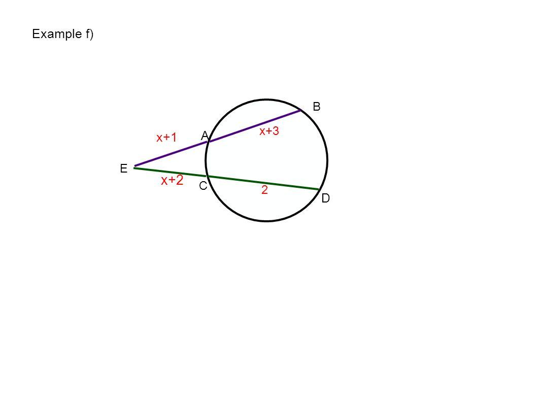 Example f) E A B C D x+3 x+1 x+2 2