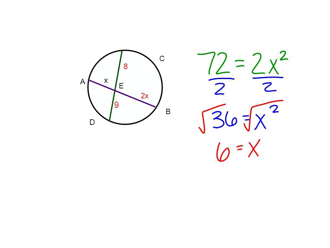 C 8 A x E 2x 9 B D