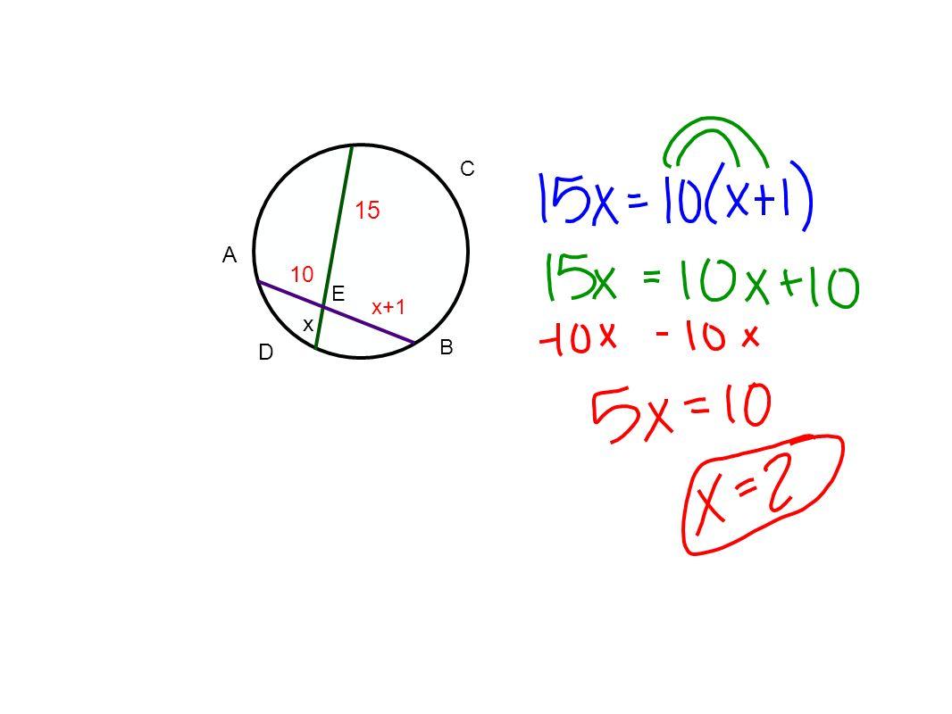 C 15 A 10 E x+1 x D B