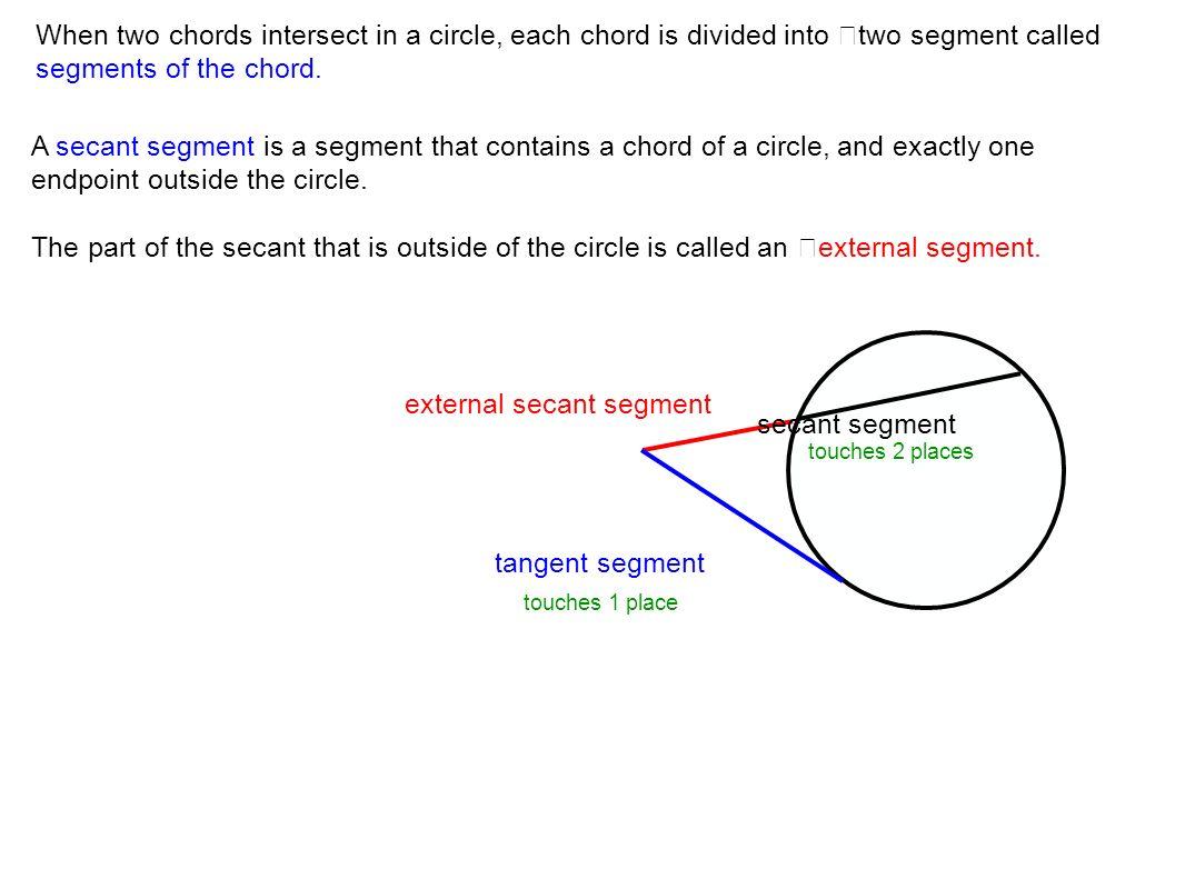 external secant segment