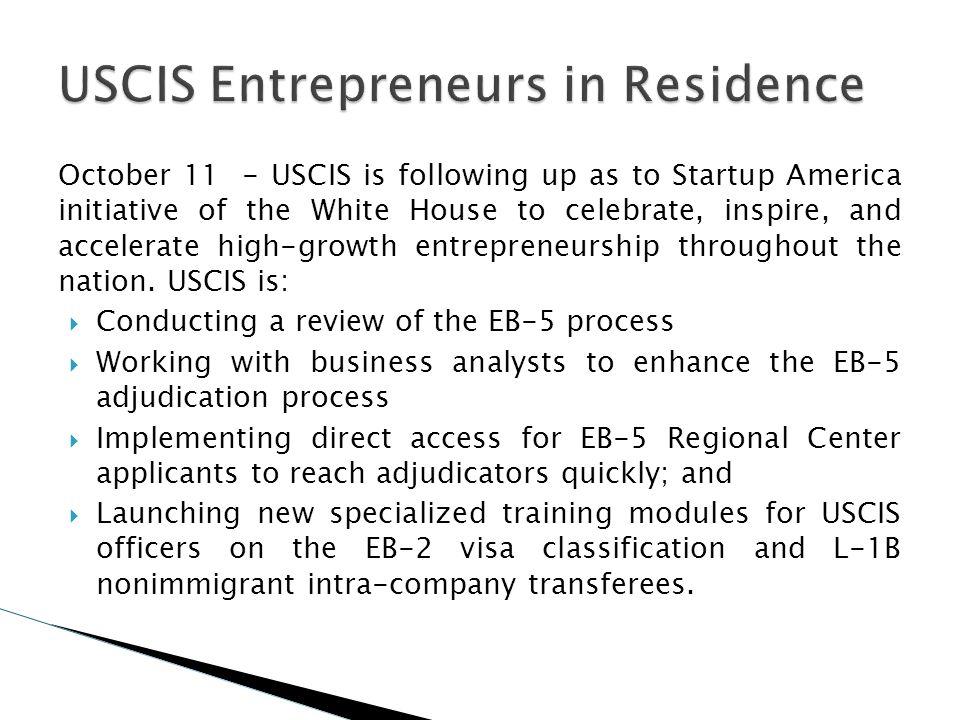 USCIS Entrepreneurs in Residence