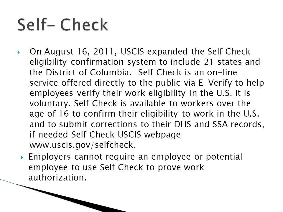 Self- Check