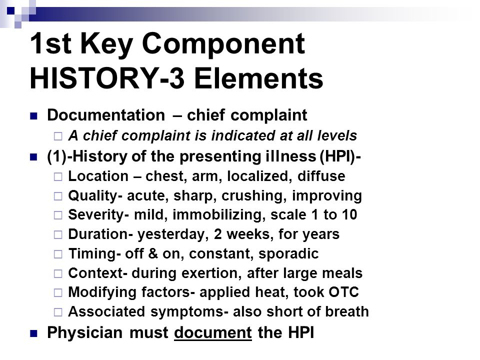 1st Key Component HISTORY-3 Elements