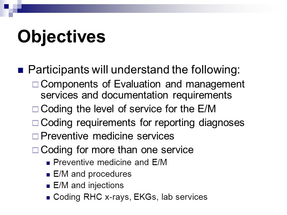 Objectives Participants will understand the following: