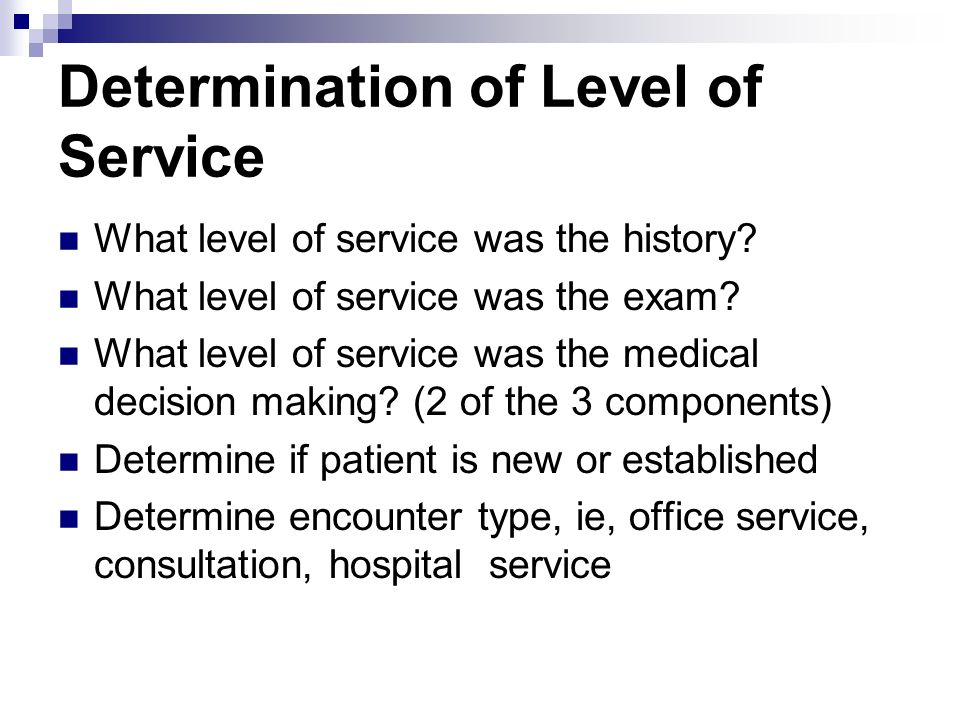 Determination of Level of Service