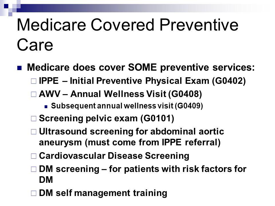 Medicare Covered Preventive Care