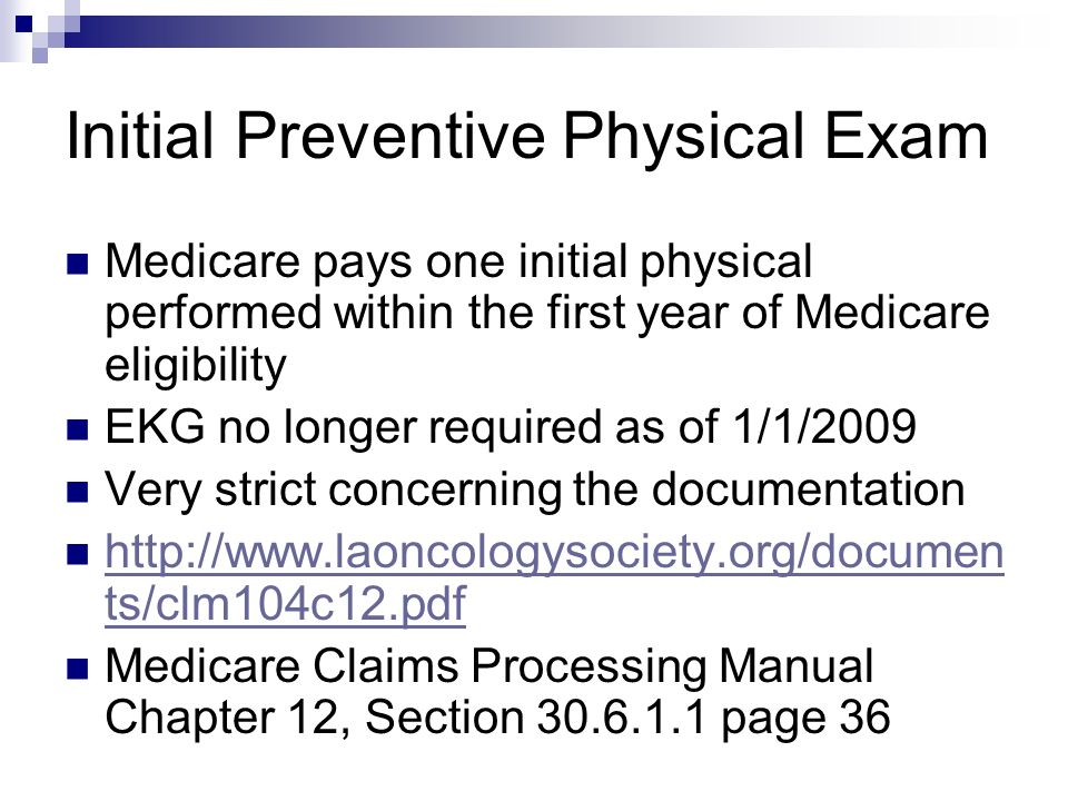 Initial Preventive Physical Exam